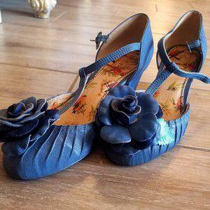 Miss L Fire Blue Bloom Heels